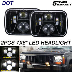 Dot 120w 5x7 7x6 Led Headlight Pair Hi-lo Beam Projector For Toyota Pickup Truck