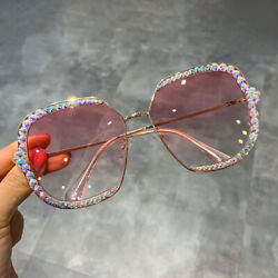 Luxury Rhinestone Square Sunglasses Women Fashion Outdoor Oversized Shades UV400
