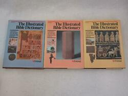 Set Of 3 The Illustrated Bible Dictionary Parts 1-3 1998 Tyndale Oversized