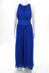 Badgley Mischka Collection Womens Corundum Sapphire Gown $790 Size 8 10670798