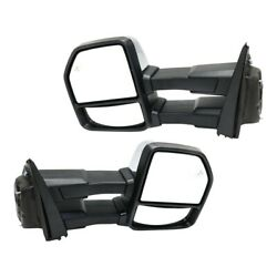 Pair Mirrors Set Of 2 Left-and-right Heated For F150 Truck Fo1320520, Fo1321520