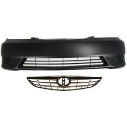Bumper Cover Grille Kit For 2005-2006 Toyota Camry Front Us Built Models