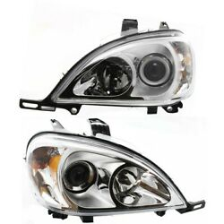 Headlight Lamp Left-and-right For Mercedes Ml Class Lh And Rh Mb2502114 Mb2503114