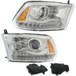 Hid Headlight Lamp Left-and-right Hid/xenon Lh And Rh For Ram Ch2502290, Ch2503290
