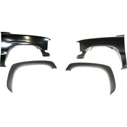 Fenders Set Of 4 Front Left-and-right For Chevy Lh And Rh Chevrolet Silverado 1500