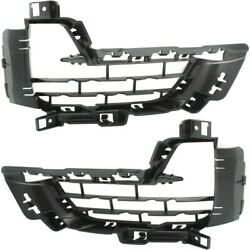 Pair Bumper Face Bar Grilles Set Of 2 Left-and-right Outside Lh And Rh For Bmw X5