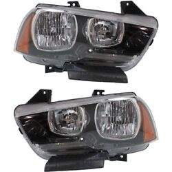 Headlight Lamp Left-and-right Ch2503232c Ch2502232c 57010410ae 57010411ae