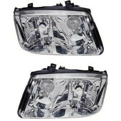 Headlight Lamp Left-and-right For Vw Lh And Rh Jetta 99-2002 Vw2502115 Vw2503115
