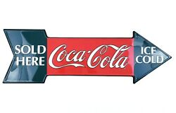 Vintage 1996 Coca Cola Ice Cold Sold Here Store Display Sign