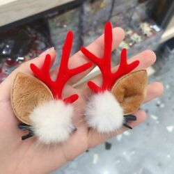 Girls Cute Christmas Style Hair Clip Cartoon Elk Cosplay Headwear Hairpins Gifts