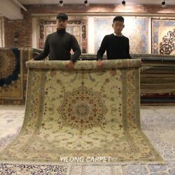 Clearance Yilong 6and039x9and039 Antique Handmade Wool Silk Area Rug Bedroom Carpets 1439