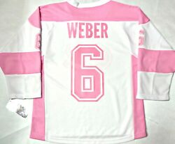 Nwt Shea Weber Montreal Canadiens Girls Youth L/xl Pink Nhl License Jersey