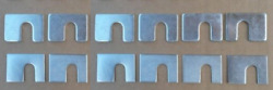 12 Slotted Door Shims Gm Cadillacs Chevy Olds Pontiac Buick C10 Pickups Gmc