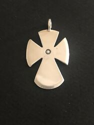 Mike Bird Romero Sterling Silver Cross Native American Jewelry Collectable