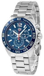 New Tag Heuer Formula-1 Chronograph Blue Dial 43mm Menand039s Watch Caz1014.ba0842