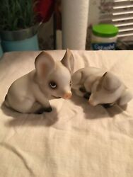 Lot Of 2 Global House Of Art, Hand Painted In Japan, 2 Piece Baby Pig Set In Vgc