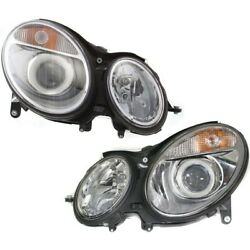 Headlight Lamp Left-and-right For Mercedes E Class Mb2503108 Mb2502108 Sedan