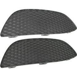 Set Of 2 Bumper Face Bar Grilles Front Left-and-right Outside For Mercedes Pair