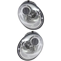 Headlight Lamp Left-and-right For Vw Vw2518109 Vw2519109 Lh And Rh Beetle 06-10