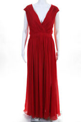 Badgley Mischka Red To Love Again Gown Size 14 $795 10170192