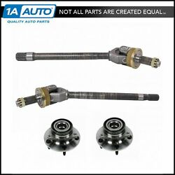 Wheel Hubs Bearing And Axle Shafts Front Kit Set Of 4 For 94-99 Dodge Ram 1500 4wd