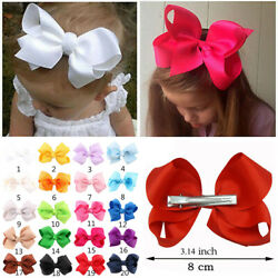 20pc Lot Baby Girls 3.5 Inch Hair Bows Alligator Hair Clips-Baby Girl Sweet Set