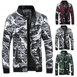 Slim Fit Stand Collier Manteau Tops Military Jacket Hiver Hommes New Outwear