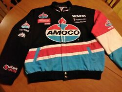 Rare Nascar Authentic Amoco Racing Jacket Xl Excellent Condition Free Shipping