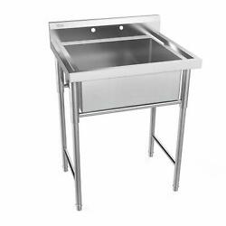 30 Commercial 18 Gauge Stainless Steel Utility Sink Laundry Room Tub Slop Sink