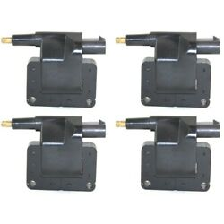 Set Of 4 Ignition Coils Left-and-right For Le Baron Ram Van Truck Lh And Rh 1500