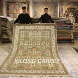 Yilong 6and039x9 Interior Handmade Silk Carpet Living Room Hand Knotted Area Rug 217b