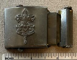 Vtg 1930s Boy Scouts Of America Uniform Belt Buckle Military Style Metal Camp