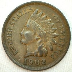 1902 Indian Head Penny One Cent Us Coin 1c Us Coin Xf Extra Fine