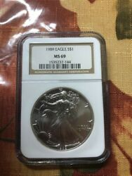 1989 Silver Eagle S1 Ms69 Ngc