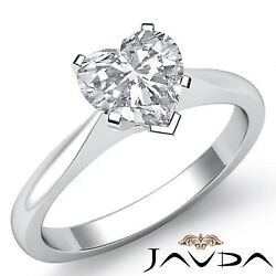 Tapper Solitaire Heart Diamond Engagement Prong Set Gold Ring Gia E Vs2 0.50 Ct.