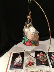 Polonaise Partridge In Peartree Lst 12 Days Of Xmas Ornaments Ap467 New/tags