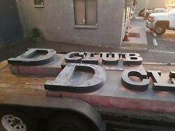 2 Very Rare Large Vintage D Club Nightclub Signs That Was In Azusa Ca.