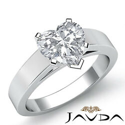 4.5mm Cathedral Style Heart Diamond Engagement Gia G Si1 Solitaire Ring 0.70ct.