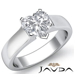 Heart Diamond Engagement Contour Solitaire 5mm Gold Ring Gia H Vs2 0.70 Ct.