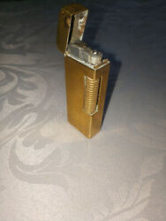 Classic Gold Plated Dunhill Rollagas Cigarette Cigar Lighter Vintage
