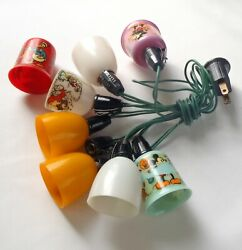 Vintage Character Christmas Lights 1930s Mickey Mouse And Popeye