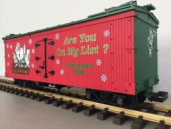 """Usa Trains R-1301 Christmas 1992 """"are You On My List"""" G Scale Freight Car"""