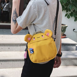 Cute Cartoon Canvas Crossbody Girls Sling Shoulder Messenger Bag Itabag Handbag $16.49