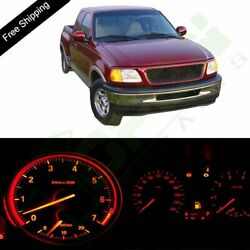 For Ford F-150 Red Instrument Panel Dash Light Bulbs W/ Climate Control Light