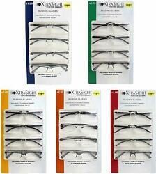 Foster Grant XtraSight 4 Pack Rick Reading Glasses High Quality Durable Frames $15.99