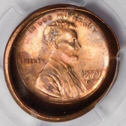 1979 D Pcgs Ms64rd Deep Obverse Die Cap Lincoln Cent Mint Error Great Eye Appeal