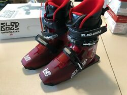 Brand New Sled Dogs Snow Skates Hygen Size Mp 23 Sd 5 Transparent Red.