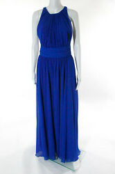 Badgley Mischka Collection Corundum Sapphire Gown Size 8 New $790 10297543