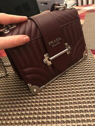 PRADA 1BD045 CAHIER Chain Shoulder Hand Tote Bag (never Used) 100% Authentic