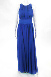Badgley Mischka Collection Blue Corundum Sapphire Gown 790 Size 10 10431761